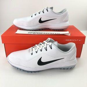 Nike Lunar Vapor 2 Men's White Golf Shoes Wide